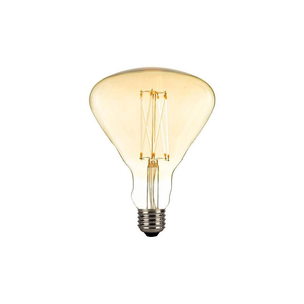 Homemania HOMEMANIA Ampoule New ORLEANS - Transparent en Verre, Cuivre, 12,5 x 12,5 x 14 cm, 1 x E27, 4 W, Dimmable LED 230 Vac, 2