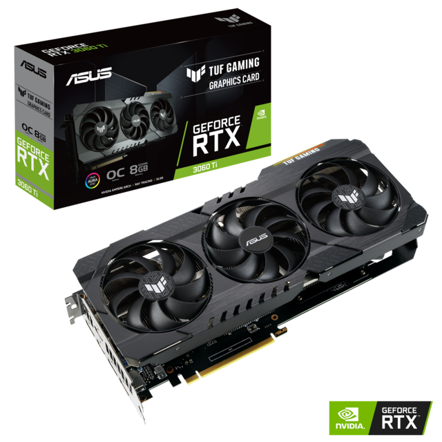 Asus - GeForce RTX 3060 Ti TUF GAMING OC - Triple Fan - 8Go - Carte Graphique NVIDIA Asus