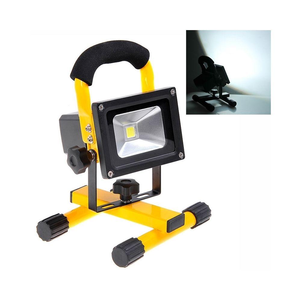 Wewoo Projecteur LED blanc KX-913 rechargeable portable 10W 900LM 6000K lampe de jaune