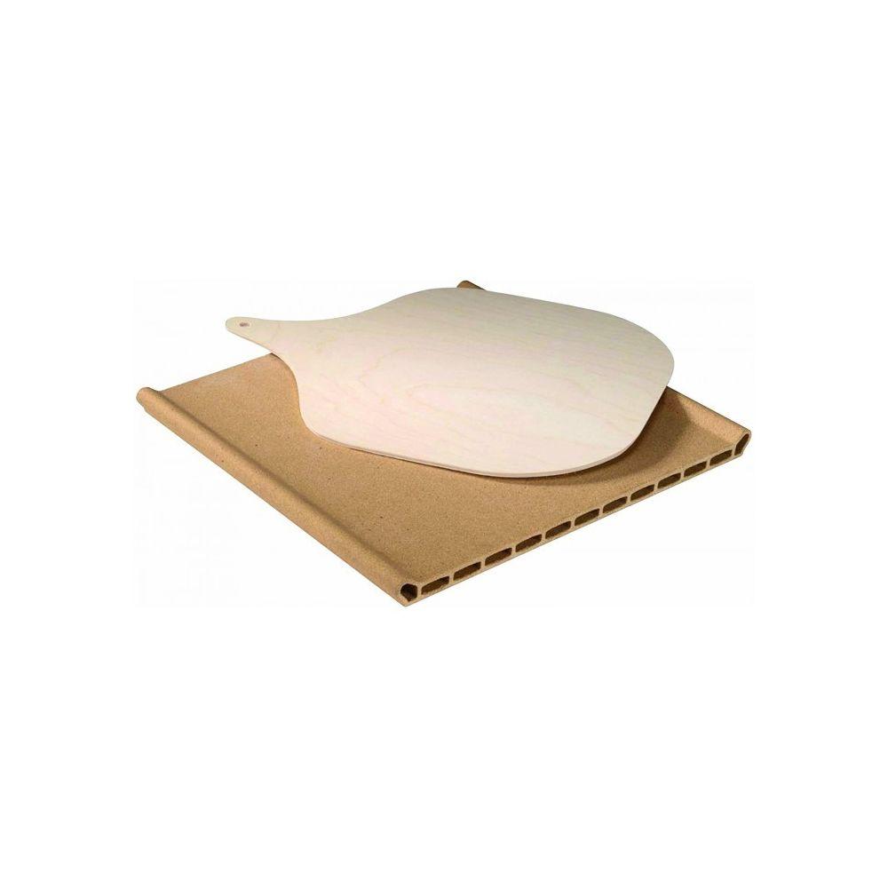 whirlpool Pierre à pizza en terre cuite 34 cm x 34.5 cm x3 cm pour four whirlpool