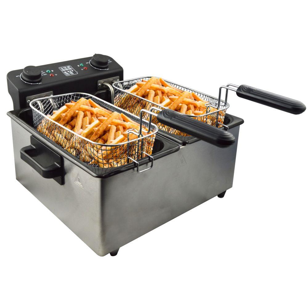 Senya Senya friteuse électrique cuve amovible inox 6L Family Fryer