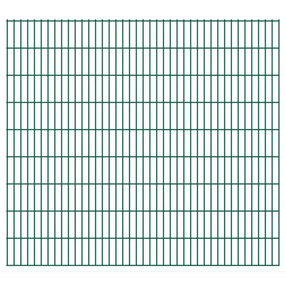 Vidaxl 2D Panneaux de clôture de jardin 2008 x 1830 mm 10 m Vert   Vert