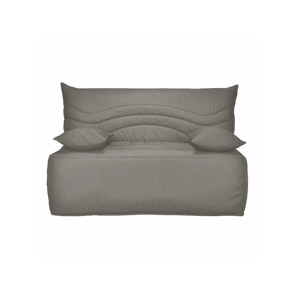 Les Essentiels By Dlm Banquette BZ housse en coton avec matelas Sofaconfort 12cm CARLOTA - Taupe - 140x200cm