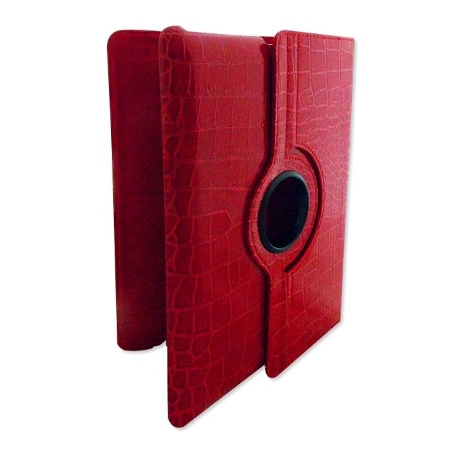 Totalcadeau -Etui pour iPad finition croco ou lisse rouge croco Totalcadeau  - Tablette tactile Totalcadeau