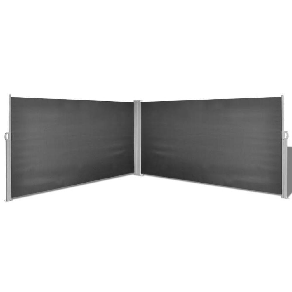 Vidaxl Auvent latéral rétractable 160 x 600 cm Noir | Noir