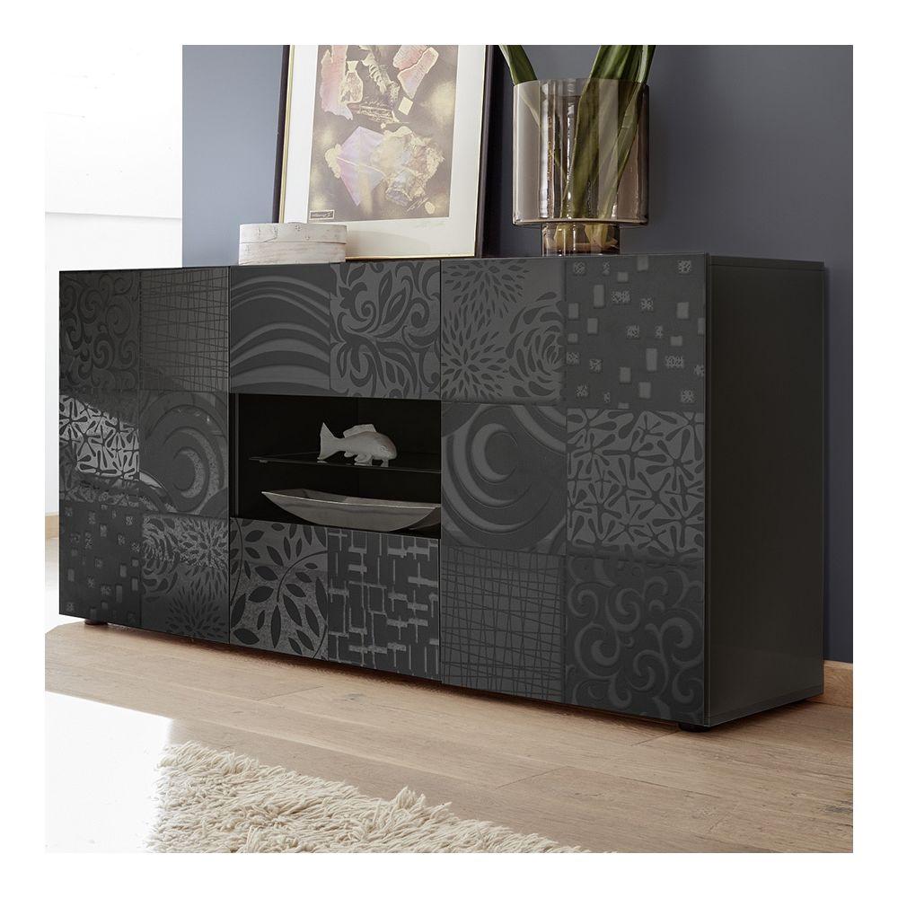Kasalinea Buffet 180 cm gris laqué design NERINA 2