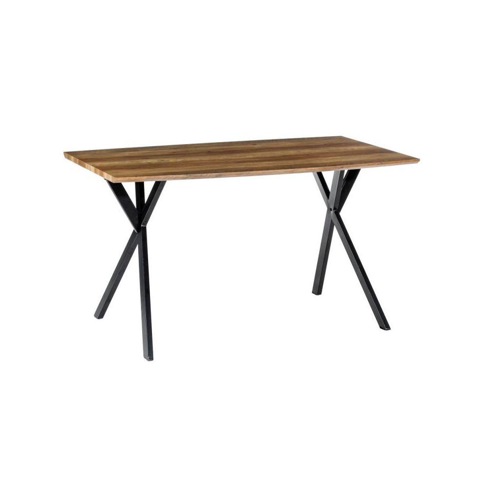 Tousmesmeubles Table de repas rectangulaire Bois/Métal - GIDAN n°1