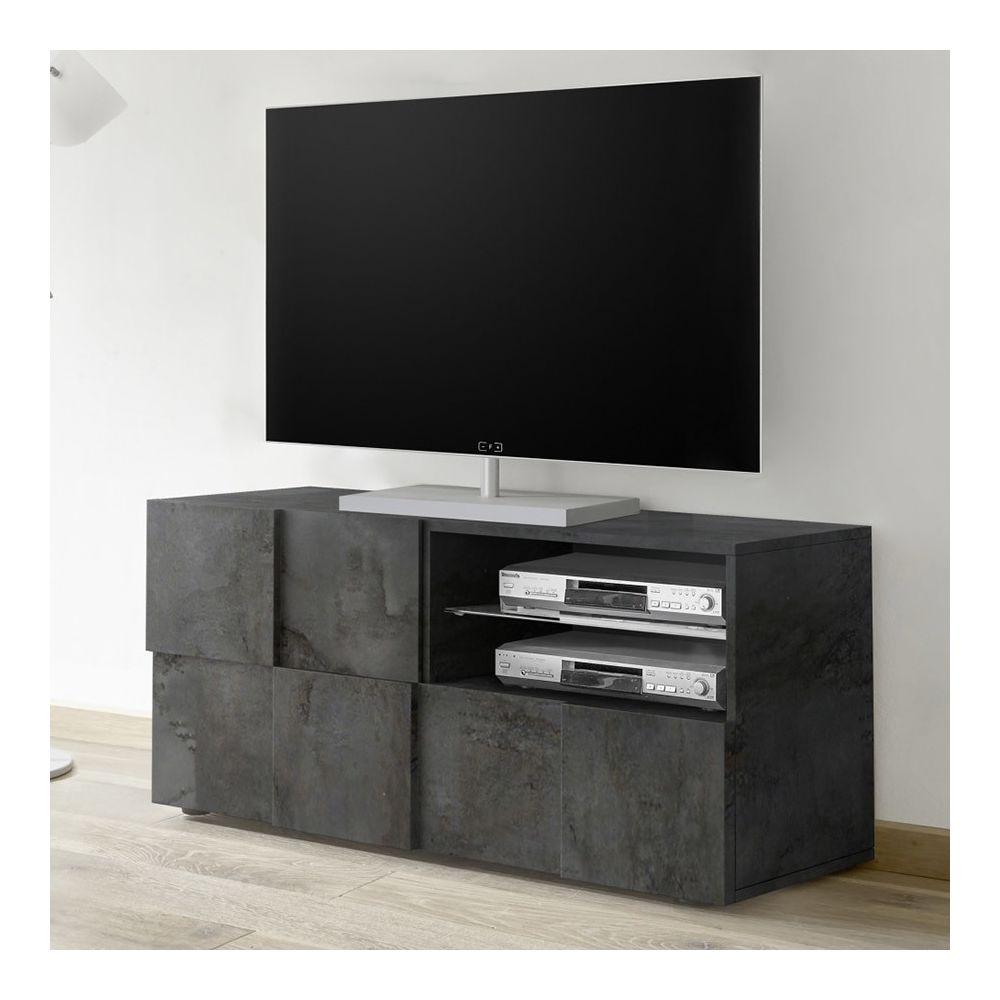 Sofamobili Meuble télé 120 cm design anthracite ARTIC 5