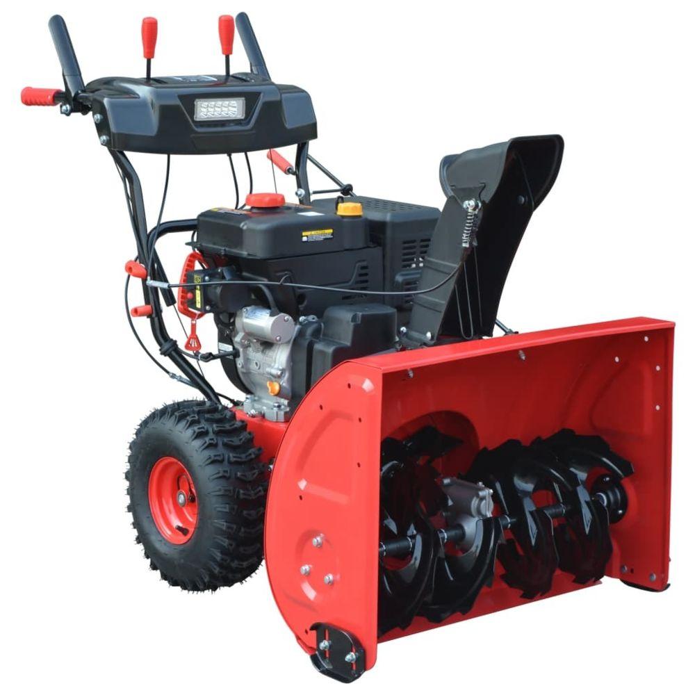 Vidaxl Souffleuse à neige à 2 étapes Démarrage électrique/manuel 11 CH   Rouge - Souffleuses à neige   Rouge   Rouge