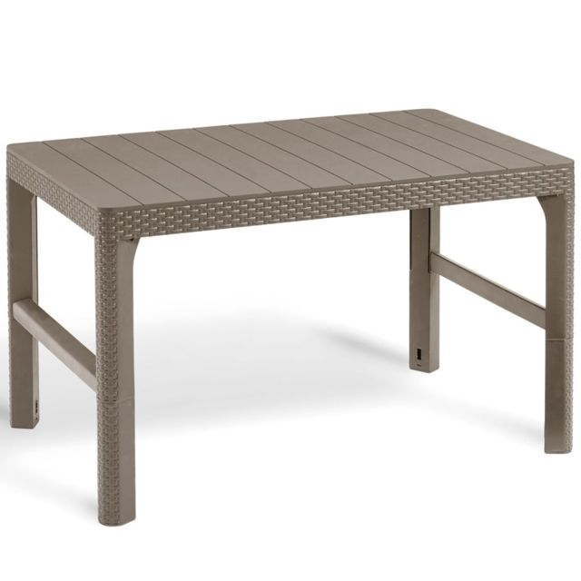 Allibert - Allibert Table de jardin Lyon Cappuccino 232296 - Tables de jardin