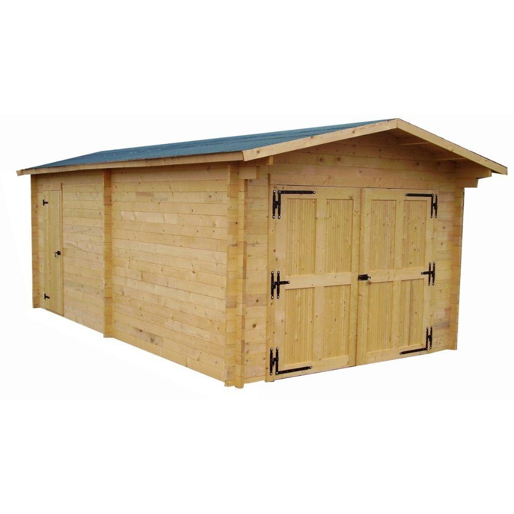 Habrita HABRITA - Garage en madriers massifs - 19,03 m²