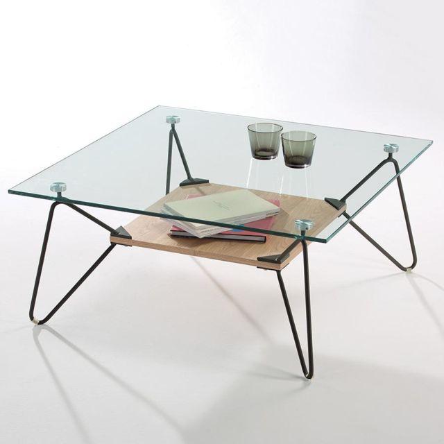 sofamobili table basse en verre otso