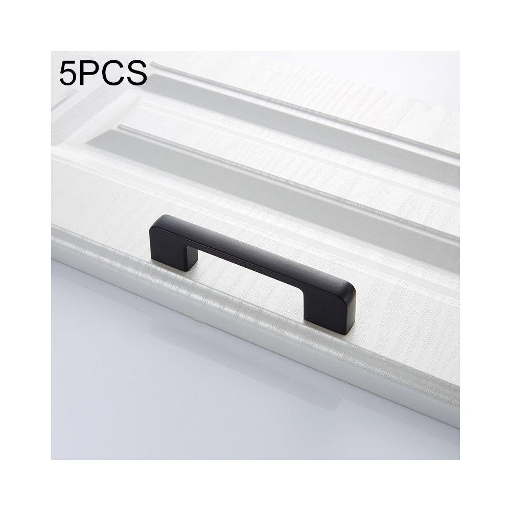 Wewoo Poignée d'armoire 5 PCS 6613-96 de porte simple tiroir en alliage de zinc noir