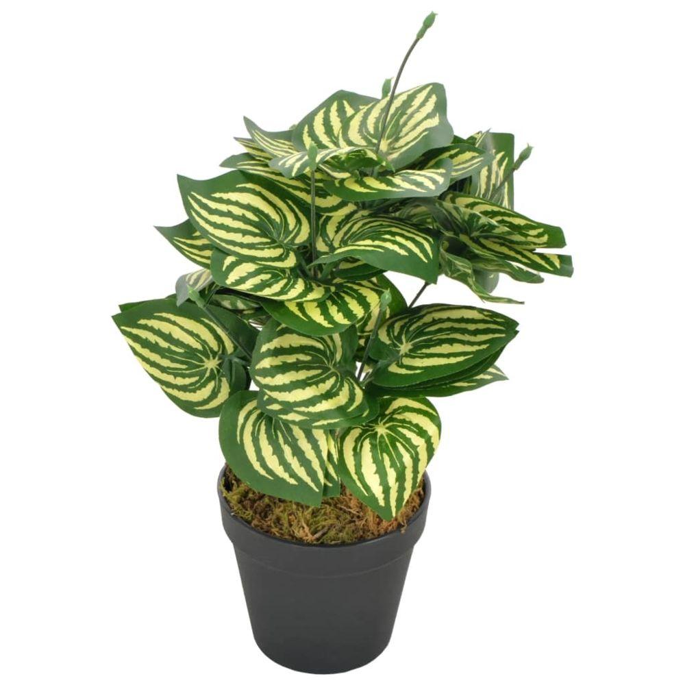 Vidaxl vidaXL Plante artificielle Feuilles de pastèque avec pot Vert 45 cm