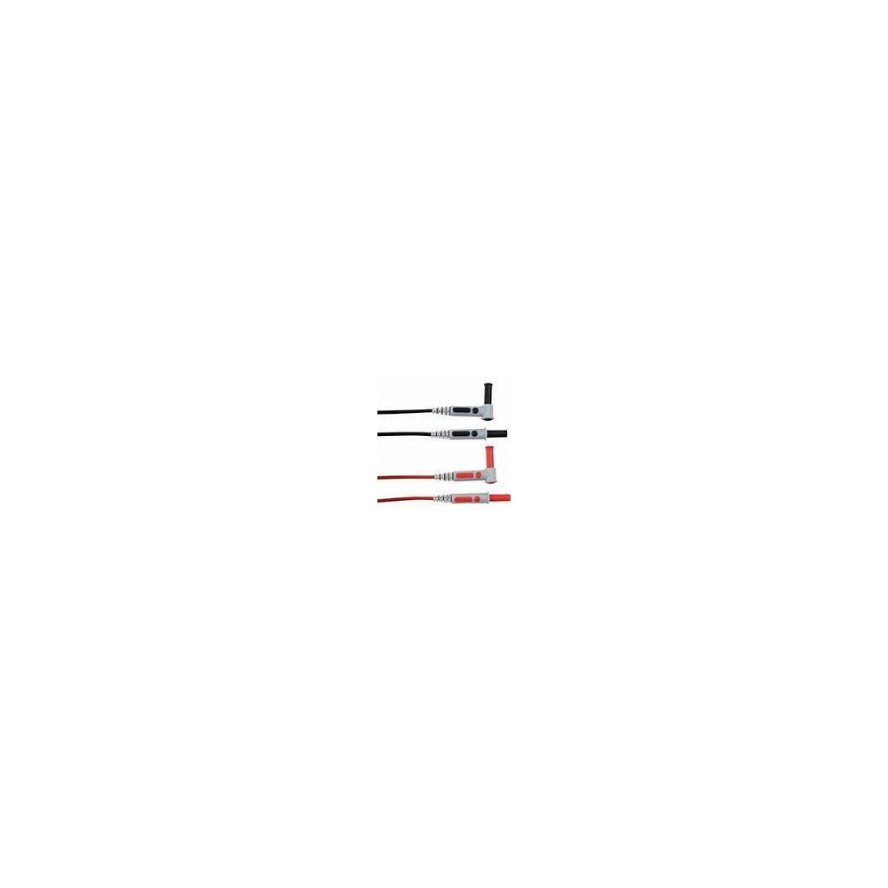 Chauvinarnoux Jeu de 2 cordons PVC coudés rouge/noir CHAUVIN ARNOUX P01295451Z