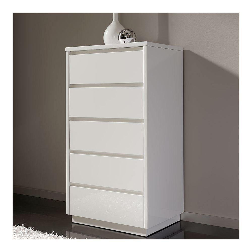 Sofamobili Meuble à chaussures blanc laqué design BASSO