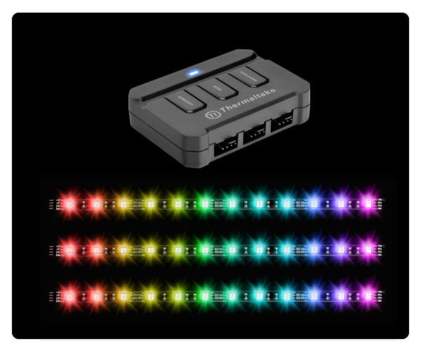 Thermaltake - Bande LED Lumi Color RGB 30cm - Néon PC