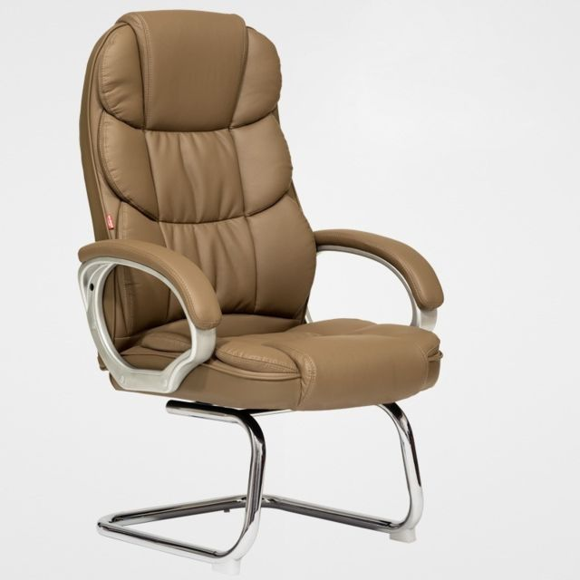 Wewoo - TO-615-Z Office Bow Rotating Computer Chair Home Armchair Desk Chair (Khaki) - Chaises