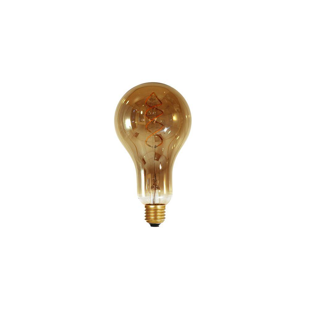 Girard Sudron Ampoule géante filament LED twisted 180mm 4W E27 2000K 160Lm dim Smoky