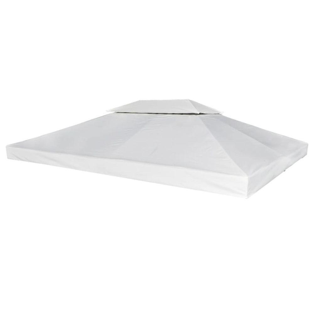 Vidaxl Toile de Rechange pour Gazebo Tonelle Pergola Blanc crème 270 g/m²   Blanc