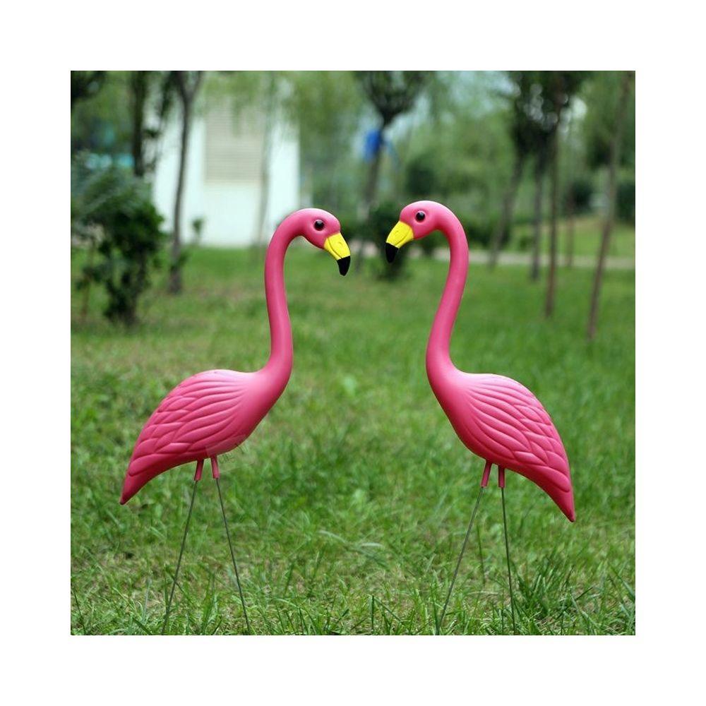 Wewoo 2 PCS Simulation Vivid Rose Flamingo Pelouse Yard Garden Party Ornements, Taille: 56cm x 24cm