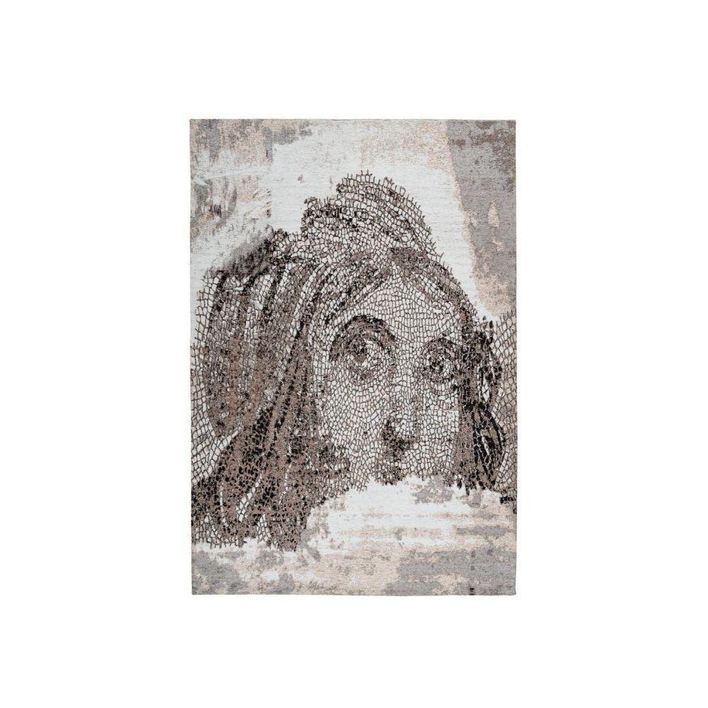 Paris Prix Tapis Vintage à Poils Courts Iglesia Taupe - 80 x 150 cm