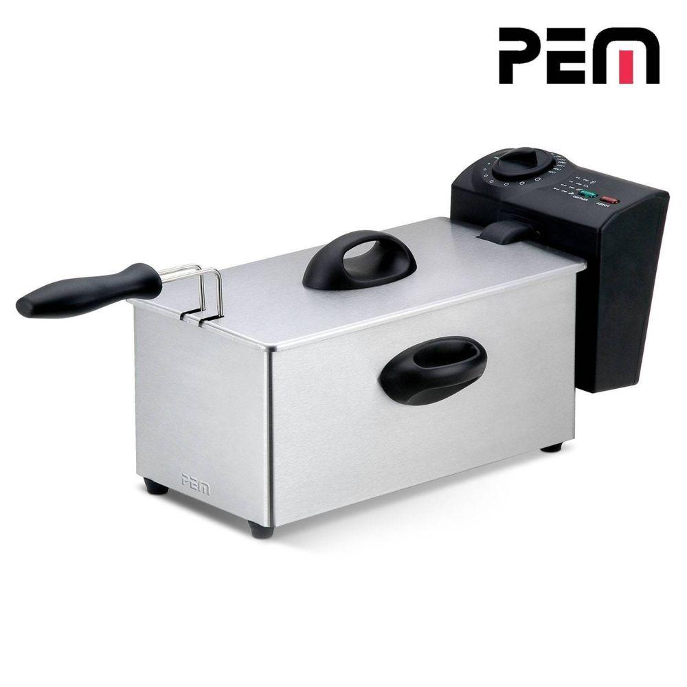 Pem Friteuse à huile en inox 2000W - Capacité 3L avec cuve indépendante DF131