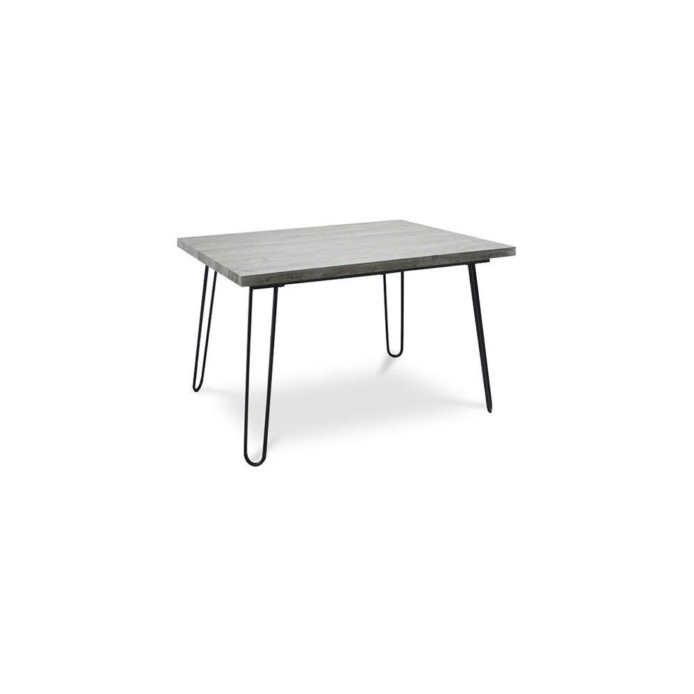 Privatefloor Table de salle à manger Hairpin 120x90 - Bois et métal