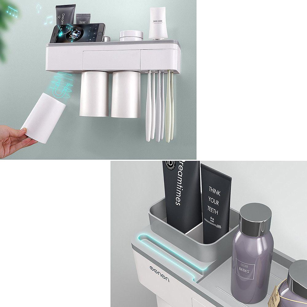 Generic Support Rangement Mural Pour Porte-Brosse À Dents Accessoires Tasses Magnétique
