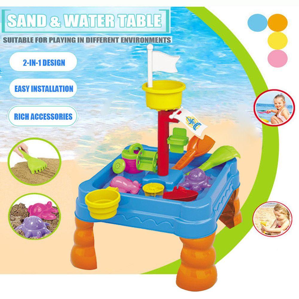Generic Arrosoir de table de sable et d'eau et bêche Ensemble de jouets pour jardin extérieur pour bac à sable pour enfants