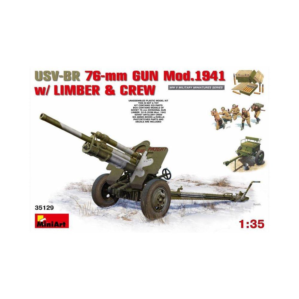 Mini Art Usv-br 76-mm Gun Mod.1941 W/ Limber And Crew - Décor Modélisme