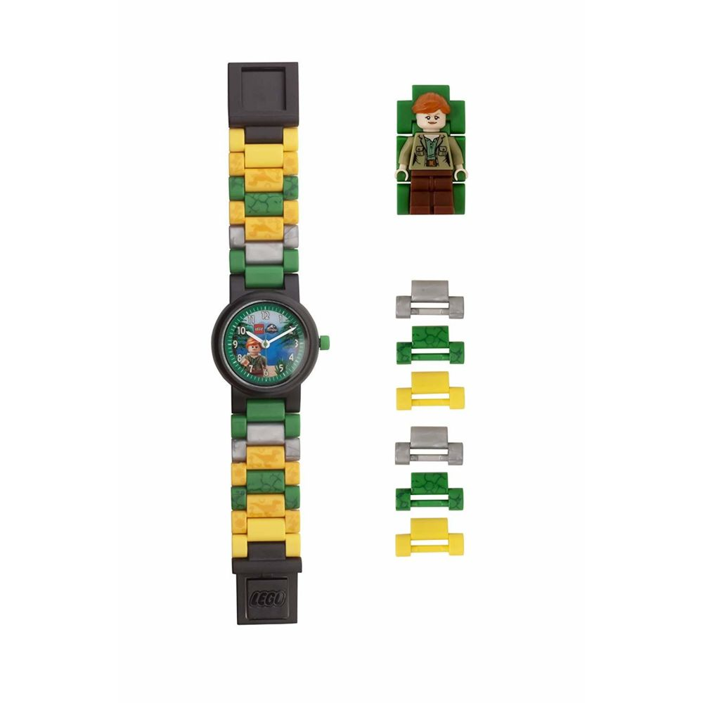 Lego Montre pour enfant LEGO Jurassic World Claire 8021278 avec bracelet à maillons et figurine à construire