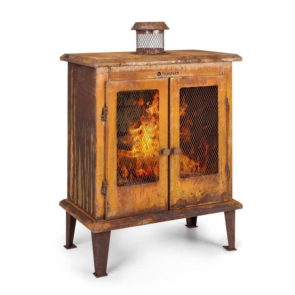 Blumfeldt Blumfeldt Flame Locker Braséro / cheminée décorative - foyer 58 x 30cm - Design acier vintage