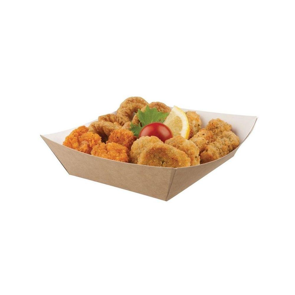 Materiel Chr Pro Barquette Alimentaire Kraft Compostable - Lot de 500 - Colpac - 139(L) x 148(P) x 42(H) mm