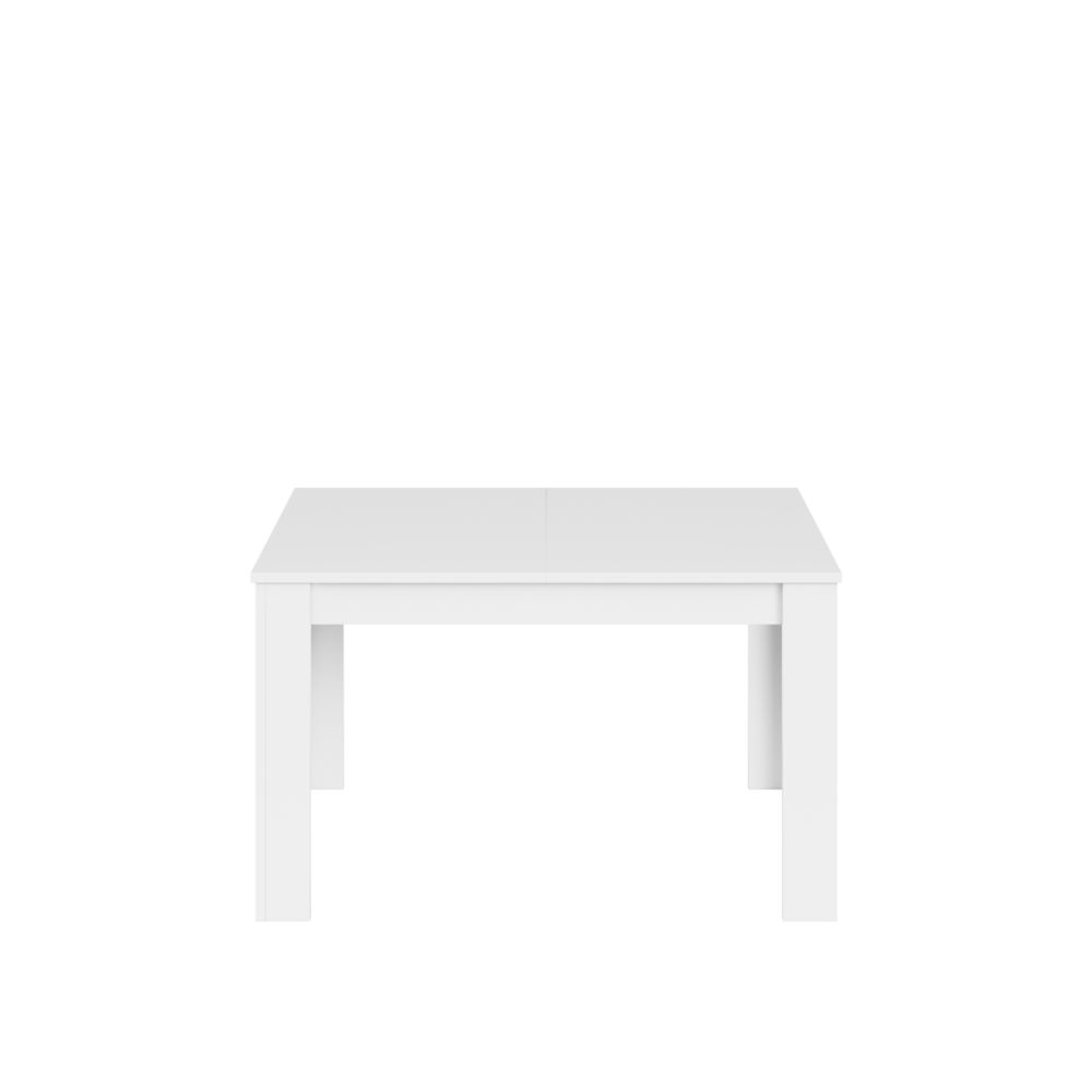 Fores KENDRA -Table extensible blanc brillant