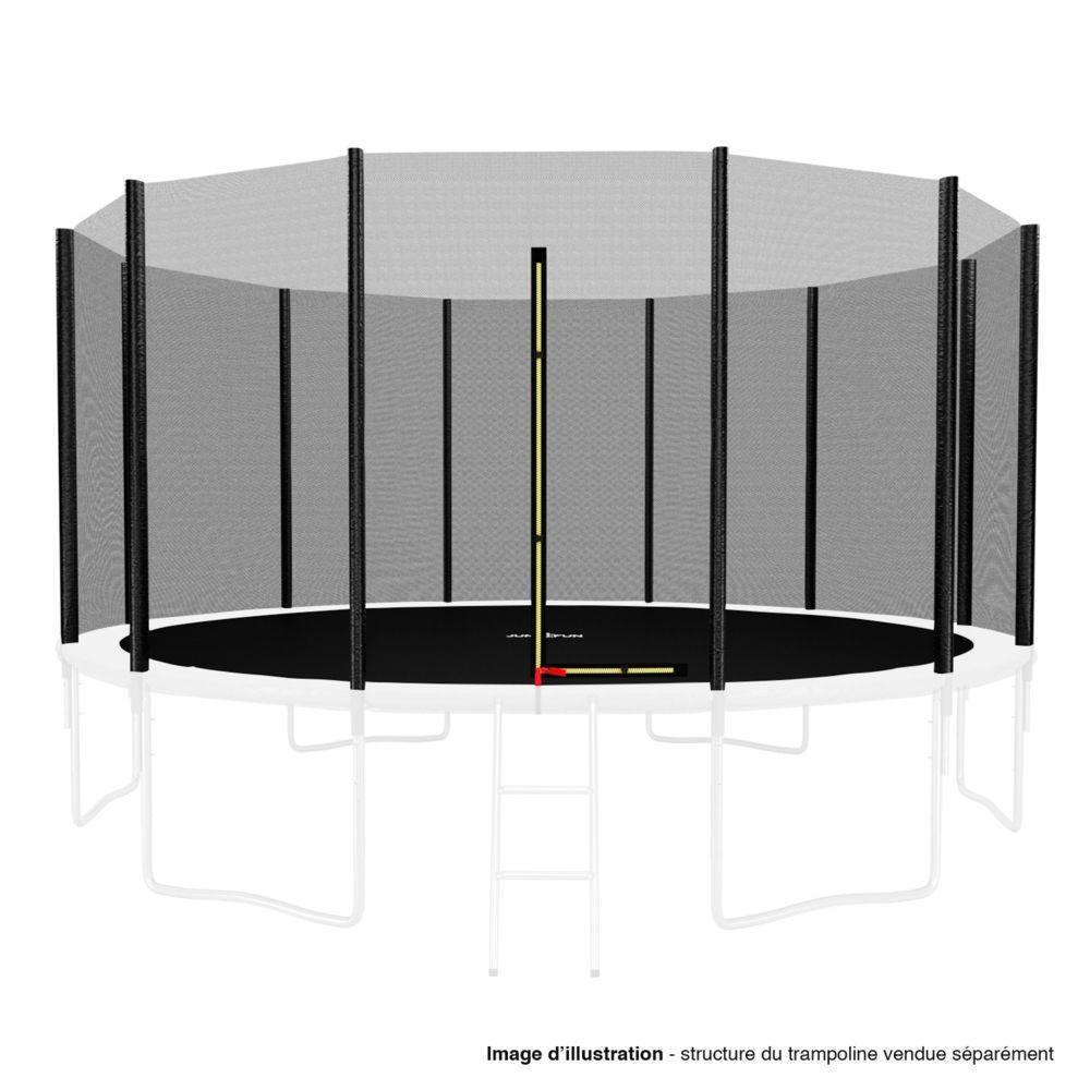 Kaia Sports Filet de sécurité extérieur Universel pour trampoline - avec bouchons hauts de perches : ø 14Ft, 12 Perches