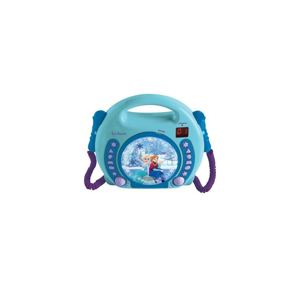 lexibook LA REINE DES NEIGES - Boombox, Lecteur CD avec 2 micros et prise casque - RCDK100FZ