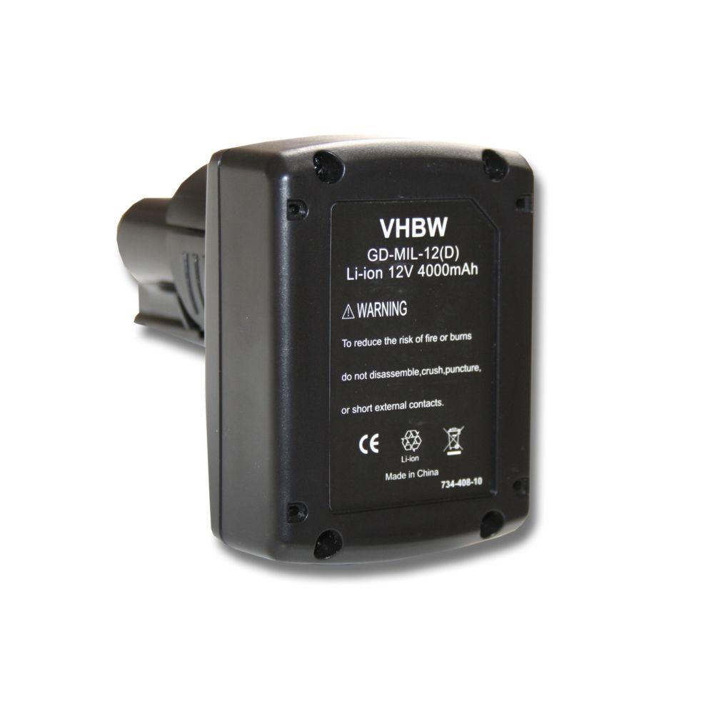 Vhbw Batterie 4000mAh pour outil AEG Milwaukee 2454-20, 2454-22, 2455-20, 2455-22, 2456-20, 2456-21, 2457-20, 2457-21, 2458-2