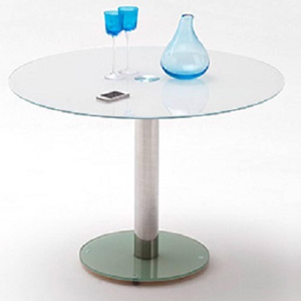 Inside 75 Table repas ronde design FATEN en verre blanc