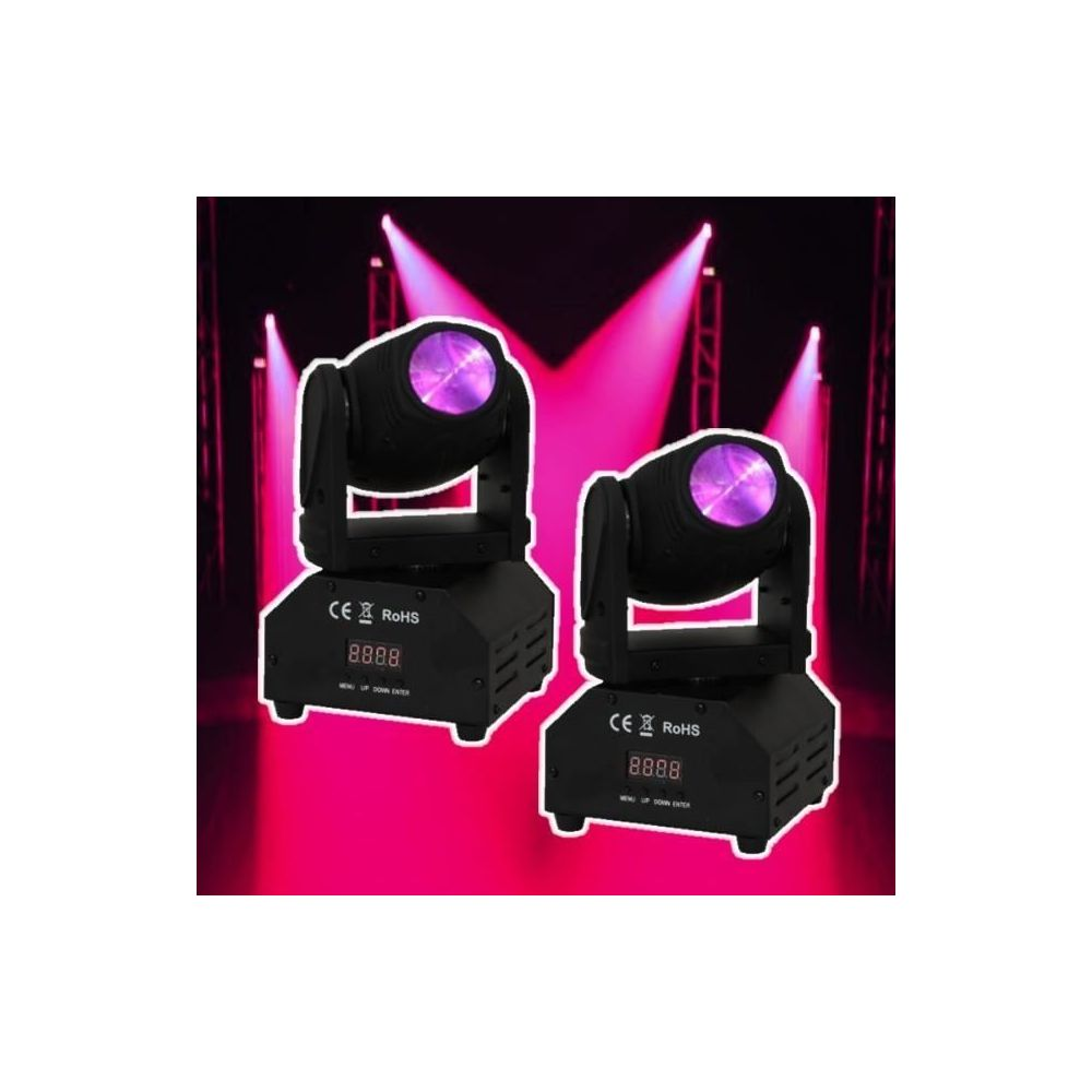 Ibiza Light Pack de 2 lyres lmh 250 led jeux de lumiere dmx