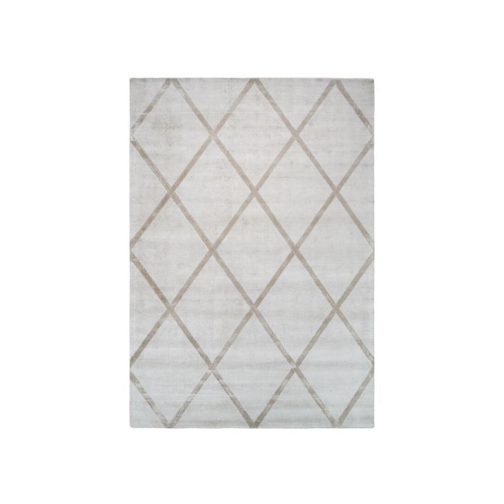Paris Prix Tapis Géométrique à Poils Courts Luxury II Taupe - 80 x 150 cm