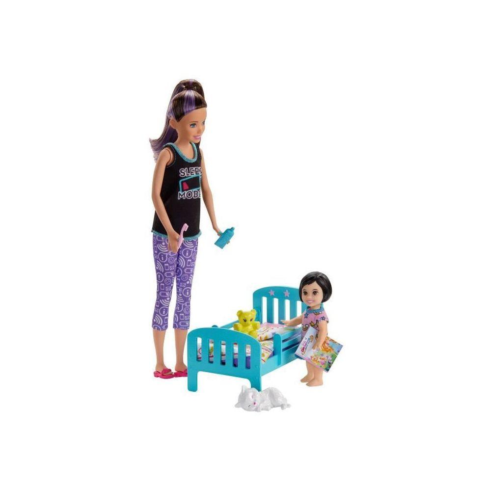 Barbie BARBIE Skipper Babysitter Heure du Dodo - GHV88 - Coffret Poupée Mannequin - 3 ans et +