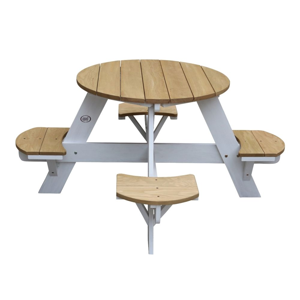 Axi UFO Table Picnic Round Brun/blanc