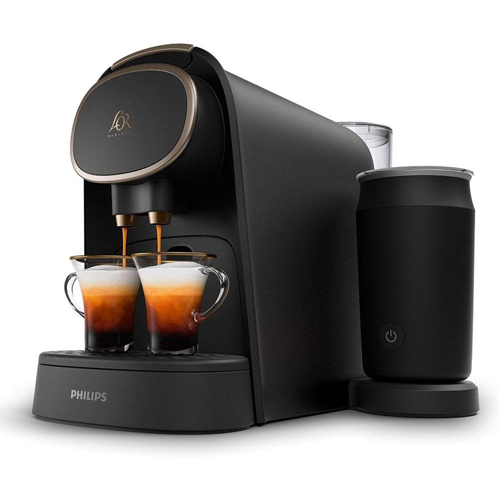 Philips Machine à café capsules de 19 bars avec Mousseur à Lait 1450W noir