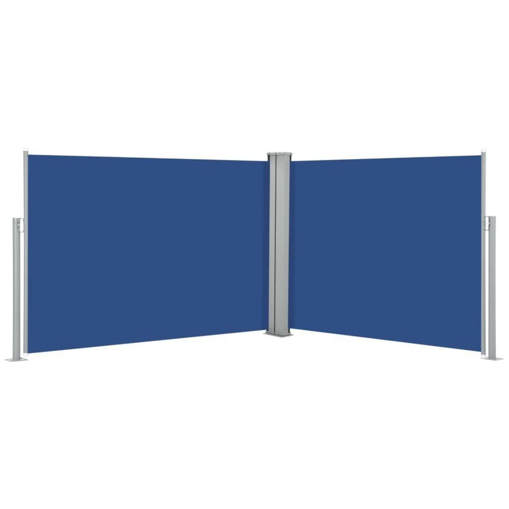 Vidaxl vidaXL Auvent latéral rétractable Bleu 100 x 1000 cm