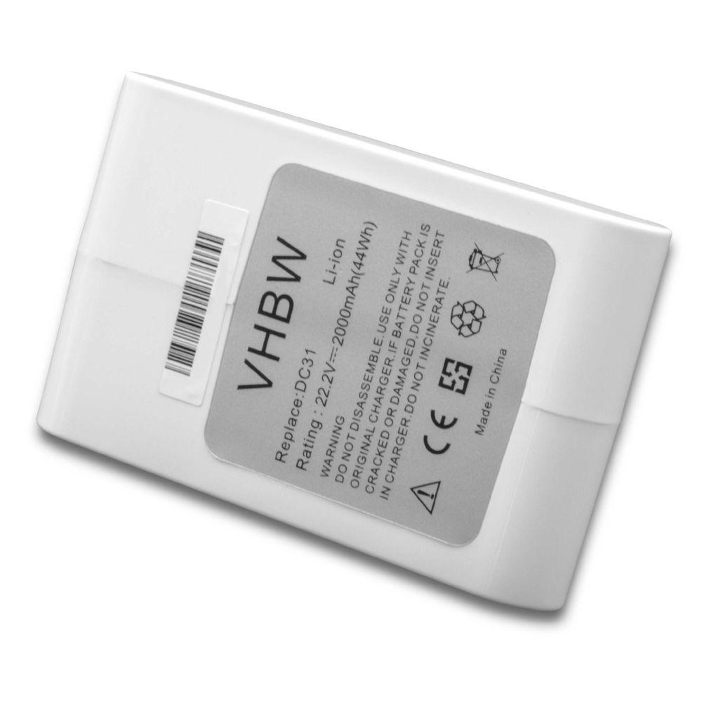 Vhbw vhbw Li-Ion batterie 2000mAh (22.2V) pour aspirateur Home Cleaner robots domestiques Dyson DC43, DC43h Animal Pro, DC45,