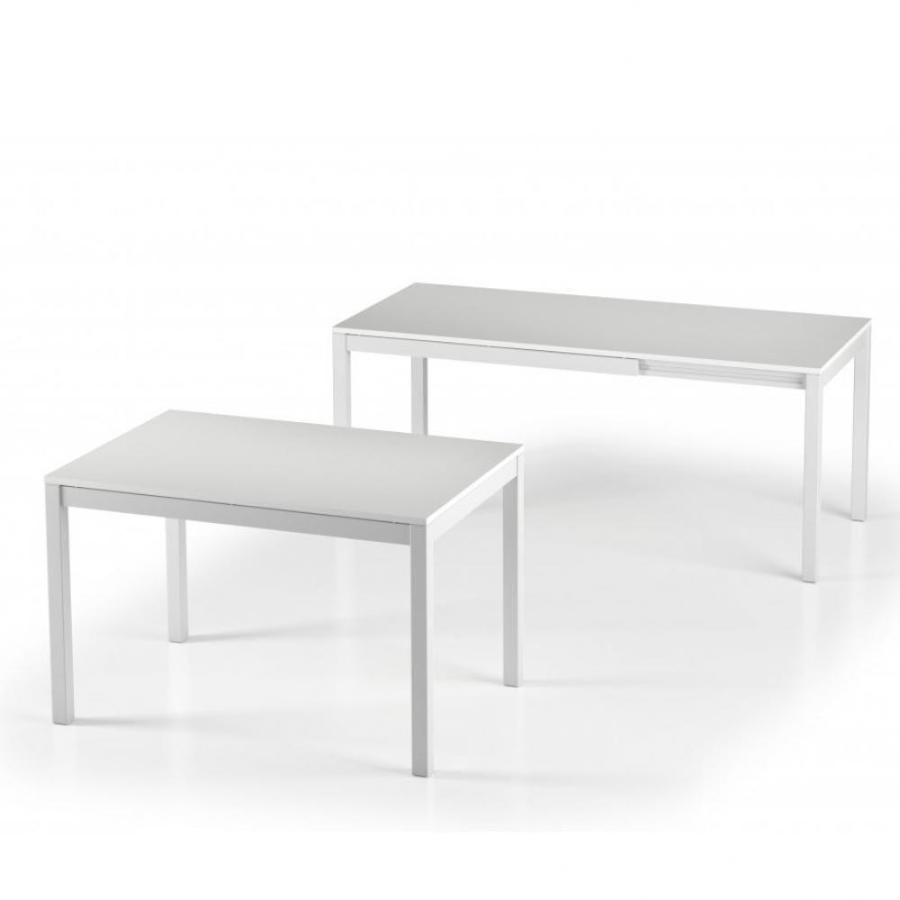 Inside 75 Table de repas extensible ALUNGO 120 x 80 cm chêne blanc