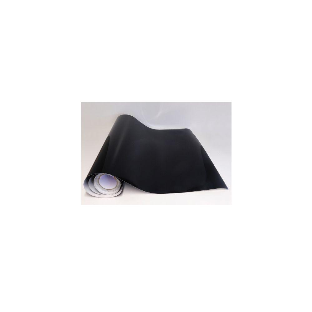 Adzif Biz Rouleau adhesif Noir brillant (13 m x 61,5 cm) Papier peint autocollant