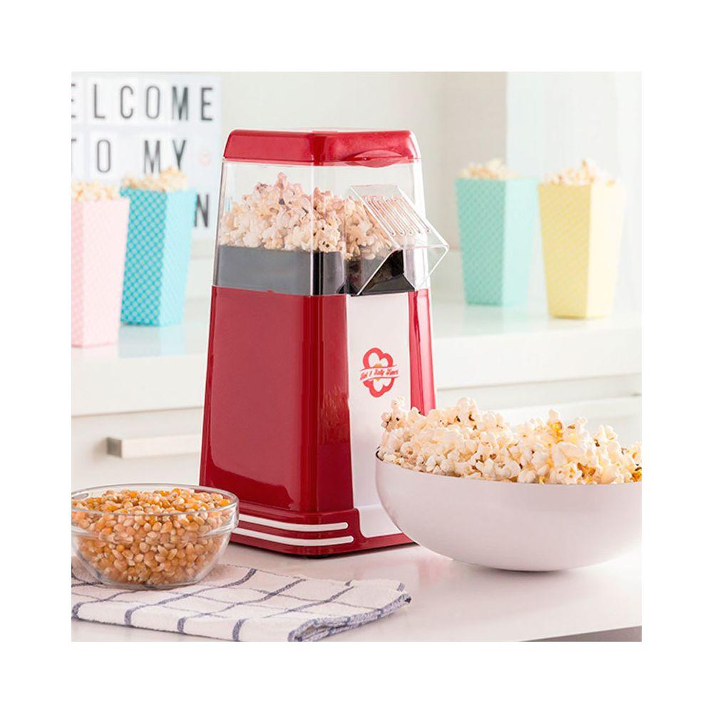 Shop Story SHOP STORY - Machine à Popcorn Retro Appareil Spécial Pop-Corn 1200W Rouge