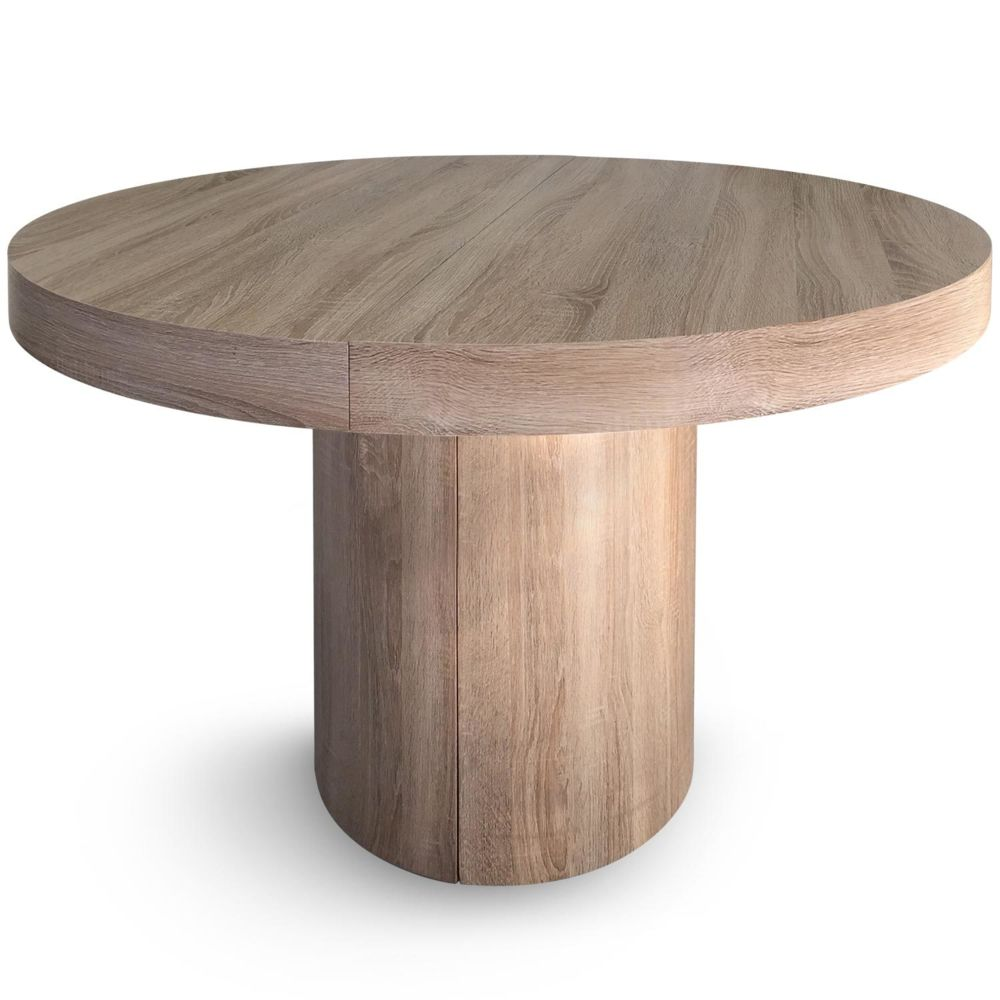 MENZZO Table ronde extensible Suzie Chêne Clair
